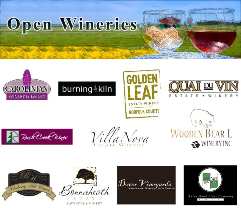 Open wineries and coming soon